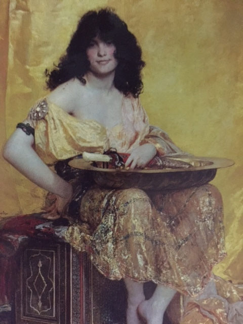 Salome looks pretty happy getting older! Postcard of Salome, Henry Regnault, Metropolitan Museum of Art.
