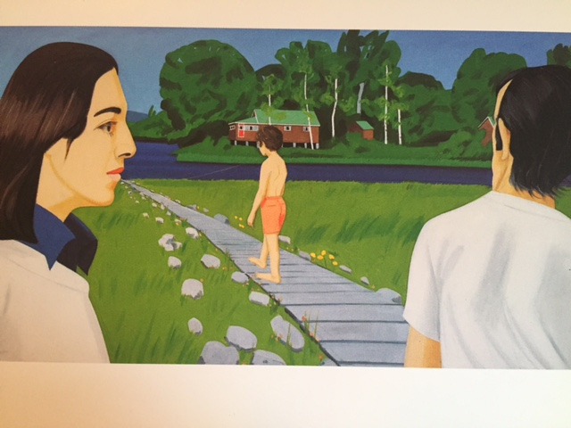 "Alex Katz, ""The Walk,"" 1970, postcard, gift from my mother"