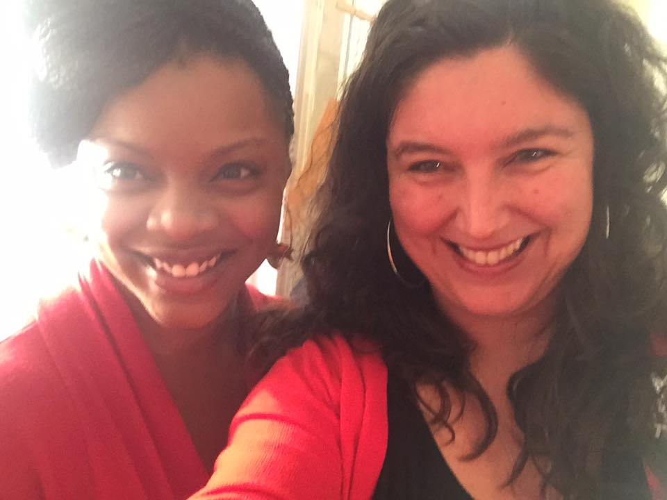 Samantha Willis & Valley Haggard at the first #UnmaskingRVA Writing Workshop, 12/16.