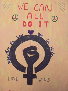 Poster made by one of the participants at our Write-In on Jan. 21.