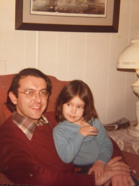 Me and my dad at his parents house in 1979.