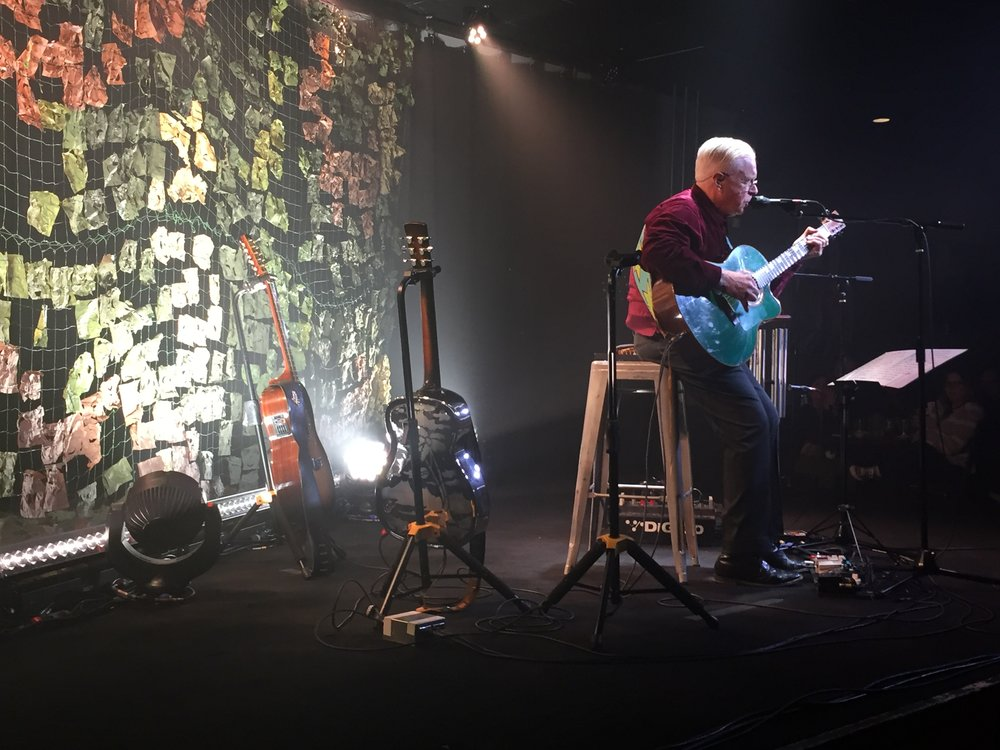 View of Bruce Cockburn from my seat, 4/18