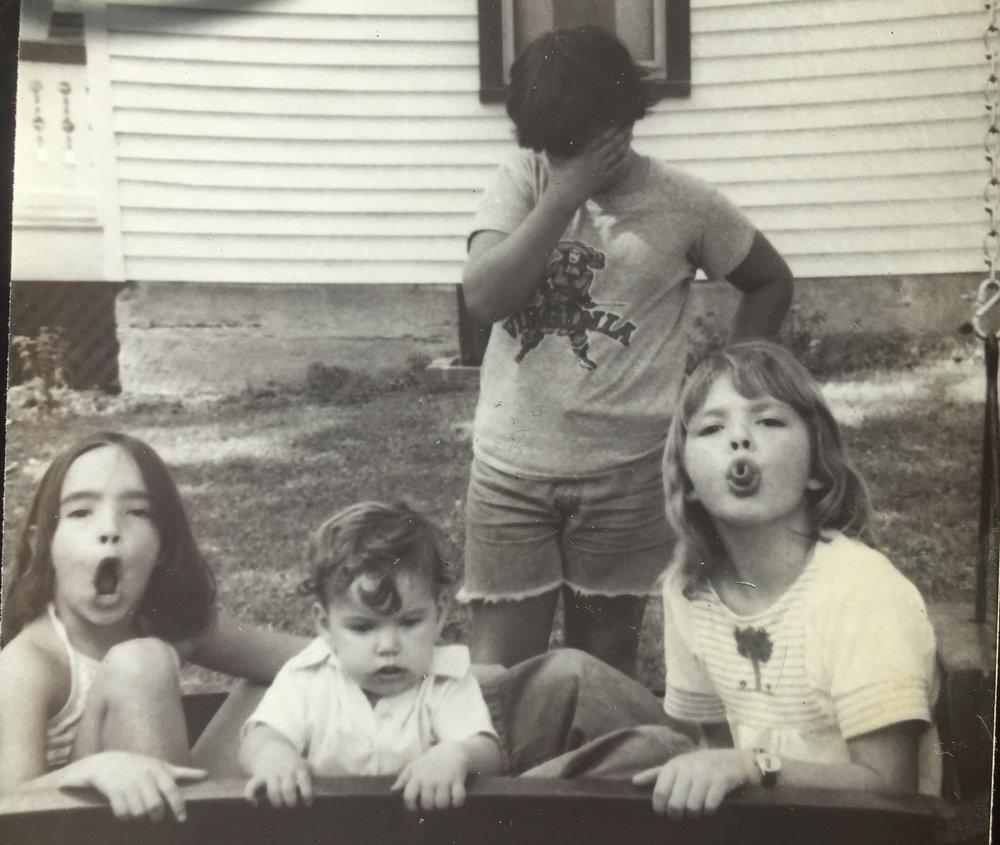 Me and my cousins, Elkton, VA, 1976