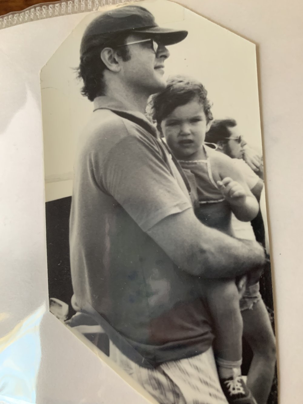 My dad and me, circa 1978.