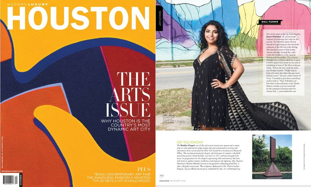 - HOUSTON MODERN LUXURY MAGAZINE - 2016