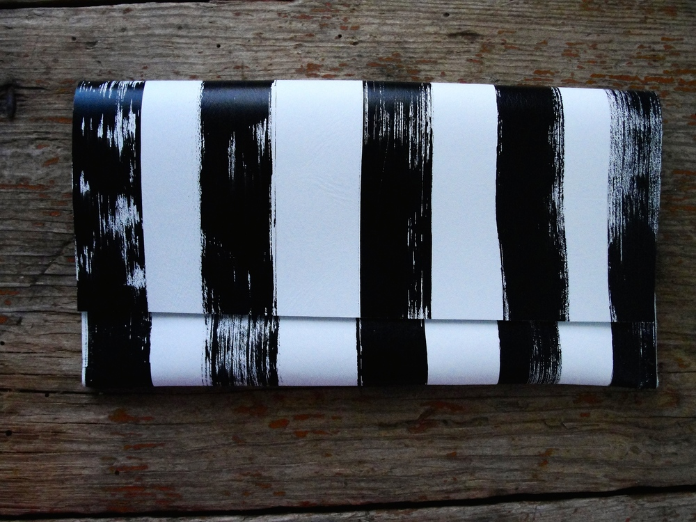 Classic Stripey Leather Evening Bag - shop here!