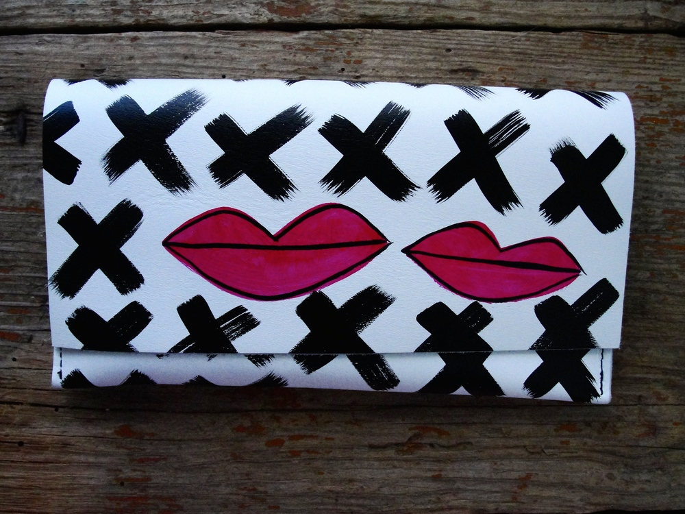 Kiss Kiss Leather Evening Bag - shop here!