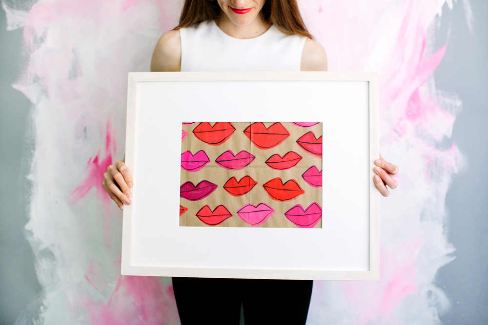 Recycled Neon Lips - $125