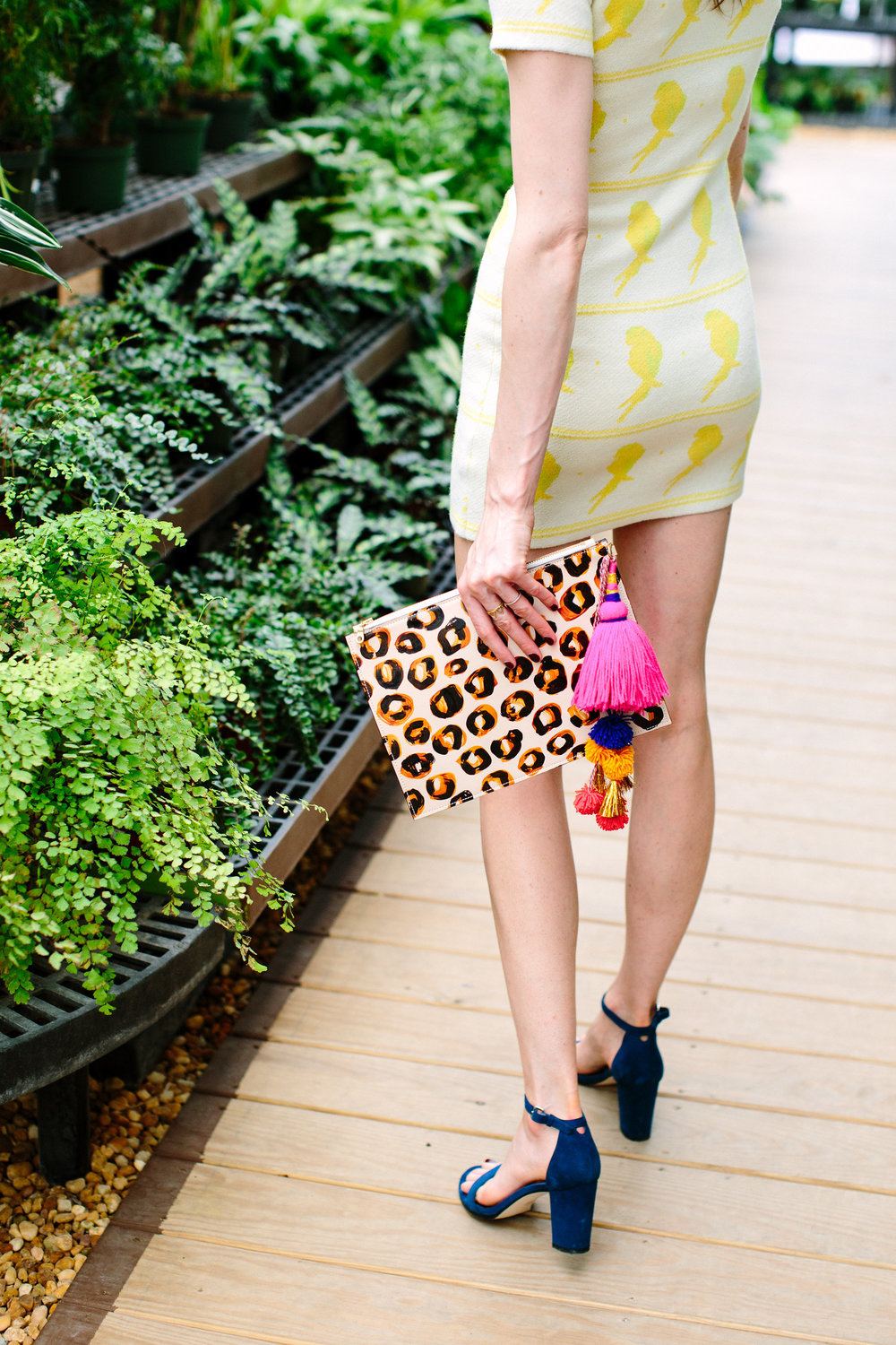 THE LEOPARD CLUTCH   // PICTURED WITH NEON TASSEL