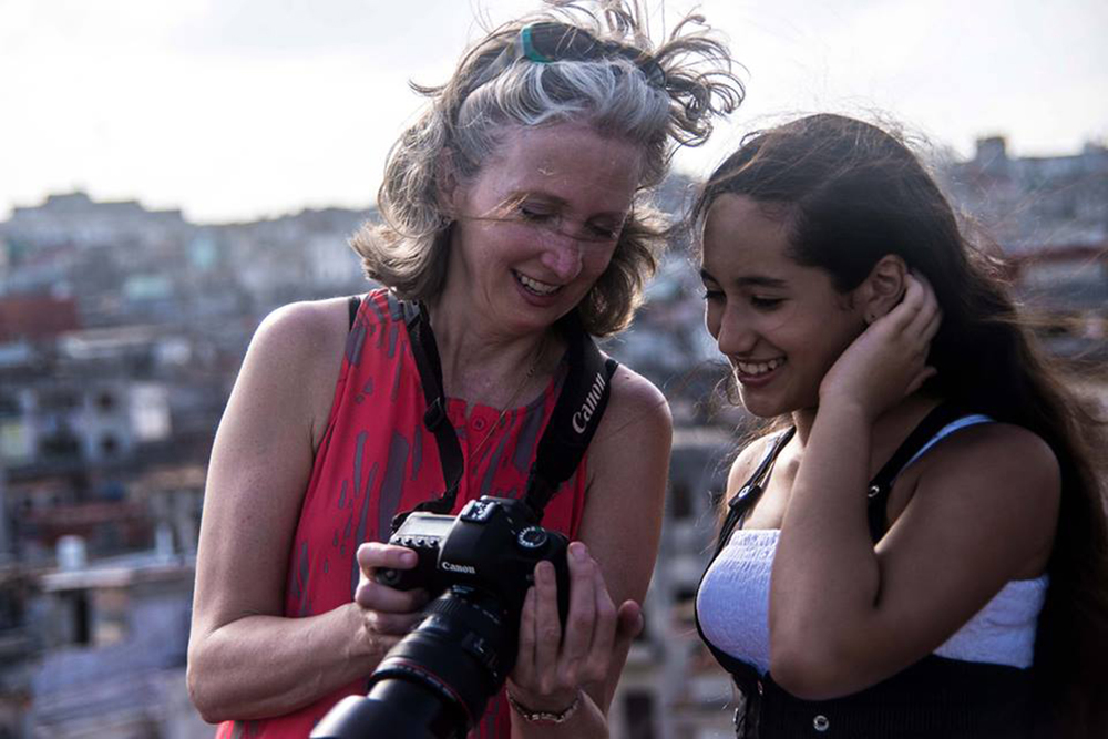 sharing the joy on the rooftops of El Centro, Habana, Cuba  photo courtesy Patricia Promerleau