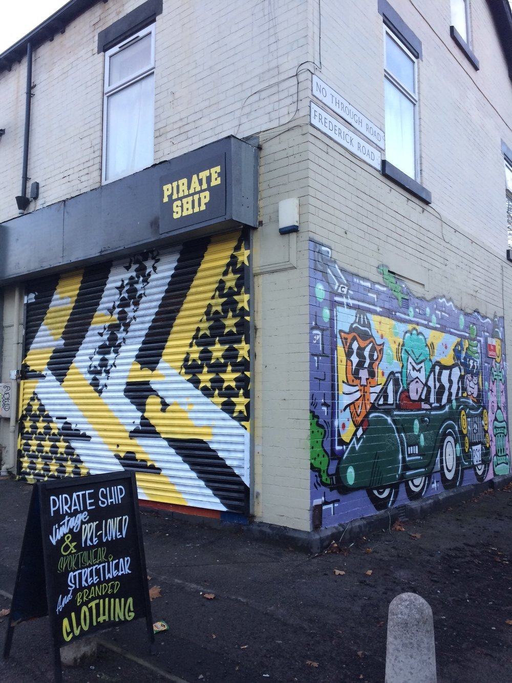 Their shutter is painted by mistone an original sheffield graffiti legend you might need to head down before opening hours to check this one out
