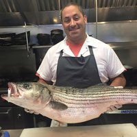 "Chef Robin King of  Oro Restaurant .  Oro, located in Scituate, specializes in local cuisine  ""Sourcing produce from small farms up & down the coast and   fresh   seafood from local fishing boats   catch of the day  ."""