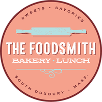 The Foodsmith in Duxbury.  All the Foodsmith's products, baked breakfast goods, lunch fare, desserts, pies and other yummy eats are selected and prepared by baker/owner Laura Raposa.