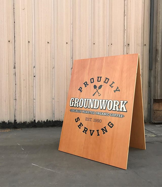 For our longtime friends @groundworkcoffee !! #design #build #wood #work #aframes #retail #signage