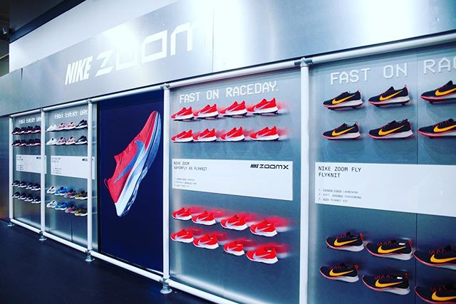 You know we're out here for @nike @dickssportinggoods  #design #display #metal #chrome #zoom #fixture #party