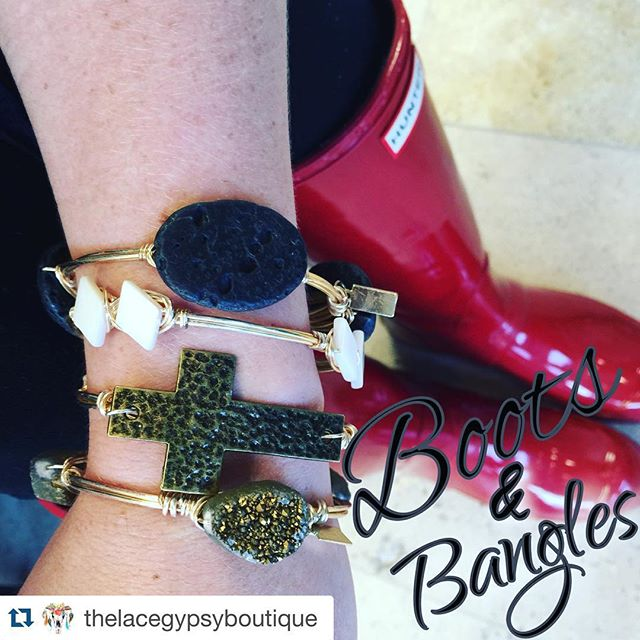 @thelacegypsyboutique mix & matching some of my everyday go to's! ≪≪ #Repost @thelacegypsyboutique with @repostapp. ・・・ Rainy days call for 🅑🅞🅞🅣🅢 & 🅑🅐🅝🅖🅛🅔🅢!! I cannot get over how much I'm loving these Bangles by @ellazjewels...they are STUNNING! These bangles are handmade and just so versatile with any outfit! We have so many colors and stones, so be sure to grab yours to take any outfit to the next level 😍 •$26• www.thelacegypsy.com #thelacegypsyboutique #bangles #banglesandboots #womensfashion #accessories #outfitoftheday #picoftheday #love #instagood #ellazjewels #wirebangles #wristswag