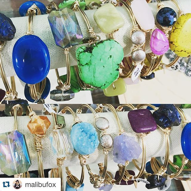 ≪≪ stop by @malibufox to check out the newest items!  #Repost @malibufox with @repostapp. ・・・ 💜💚💛NEW colorful arrivals from @ellazjewels! #malibufox #beachbabes #boho #boutique #shoplocal #shopping