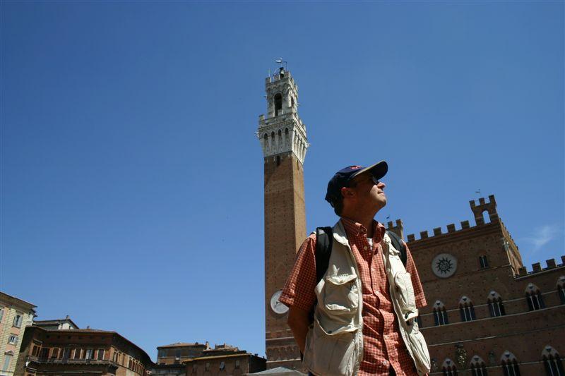Joseph D'Agnese in Siena, Italy   Image by Denise Kiernan