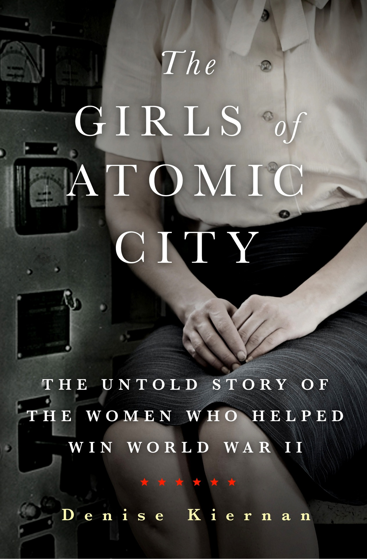 This just in!  My wife and sometimes co-author Denise Kiernan just got the cover of her next book,  The Girls of Atomic City,  about the women who unknowingly worked to create the fuel for the first bomb.  It's a true story—a narrative nonfiction title that will be published by Touchstone/Simon & Schuster in March 2013.  I'm proud of her. It's a project she's been working on, in various ways, for the last seven years or so.  To find out more, you can check out  Denise's website …  Sign up for the newsletter at the  book site …  Check out her old-timey WWII-era images on her  Tumblr blog .  You can pre-order via  Amazon .  Or pre-order a signed copy via our indie bookstore,  Malaprops .  I'll post again about this when she gets a trailer together.