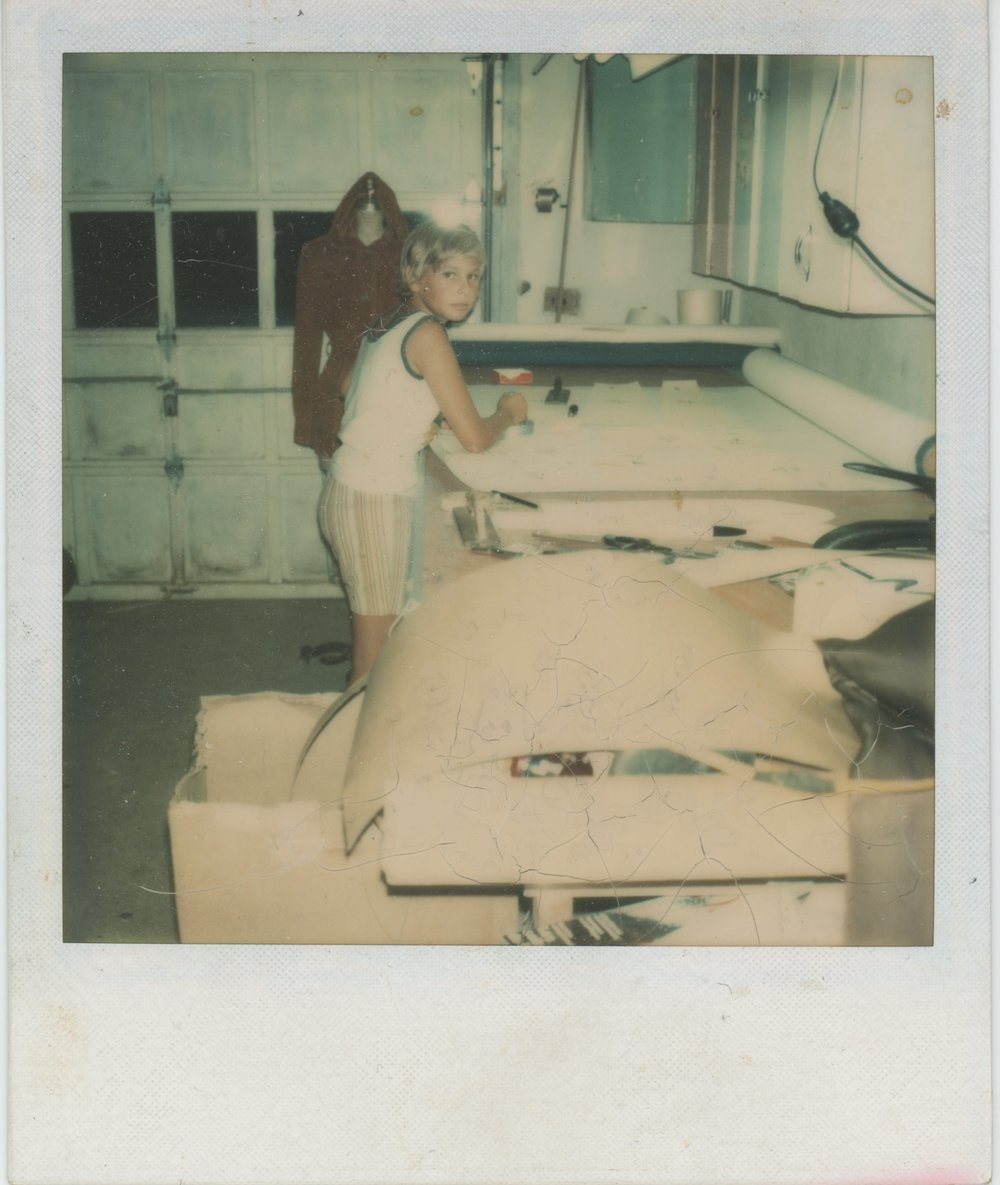 My first job, working in the garage with Dad, making clothing patterns for the Garment District.