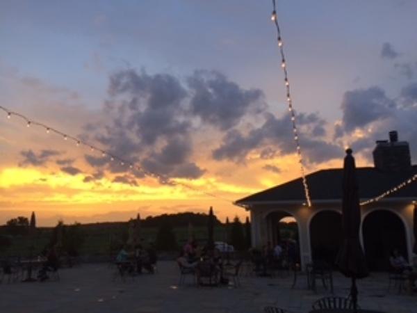 Sunset at Cross Keys Vineyard