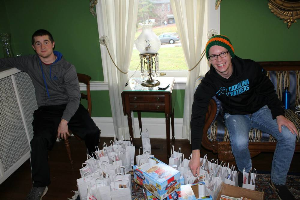 Members assemble finals week survival bags, one of our organization's largest fundraisers.