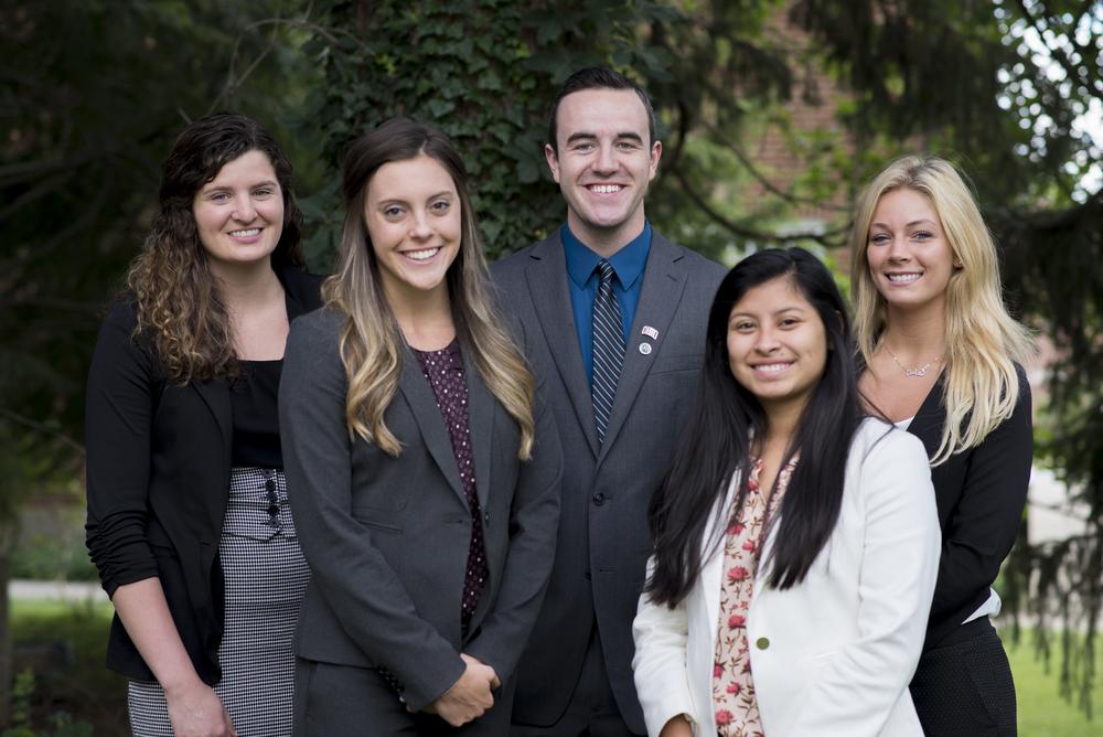 2015 Fundraising Committee (left to right) Nicole, Laura, Jacob, Alysha, Ashley