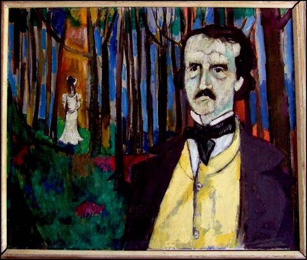 James E. Brewton, Portrait of Edgar Allan Poe (ca. 1959).