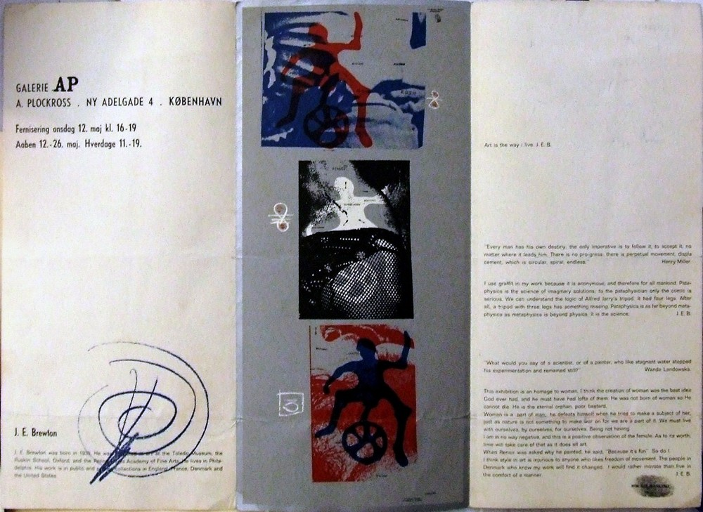 Flyer for James E. Brewton's solo in Copenhagen, 1965.