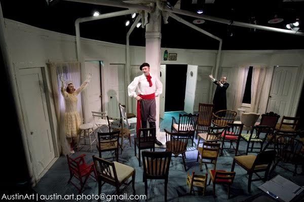 From the IRC's 2009 production of The Chairs by Eugene Ionesco. Photo credit: Johanna Austin.