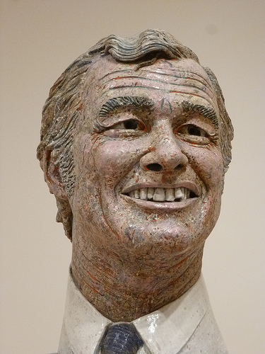 Above: Robert Arneson,  Portrait of George Moscone  (detail), 1981, SFMOMA.