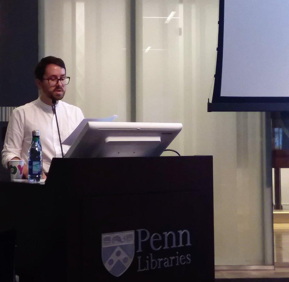 Eric Schmaltz, PhD, Poet and SSHRC Postdoctoral Fellow, University of Pennsylvania