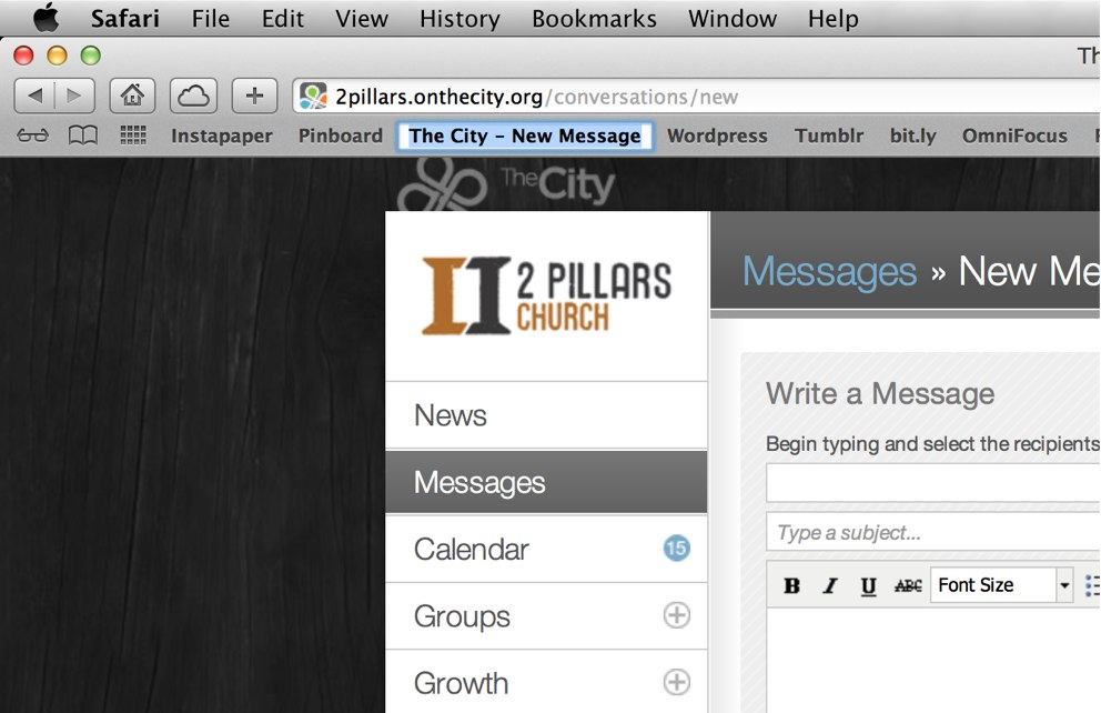 City Message Bookmarklet-Rename