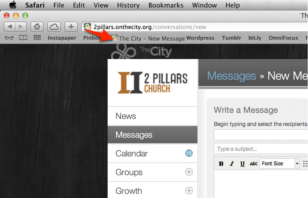 City Message Bookmarklet