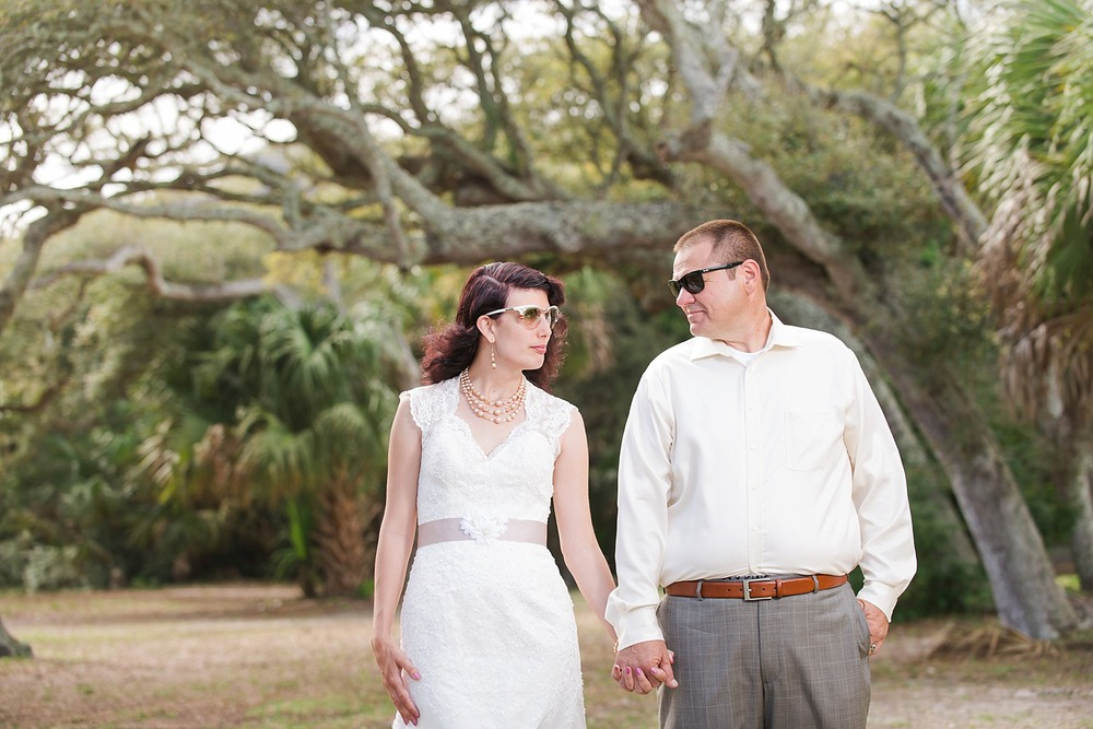 st augustine bride and groom portrait