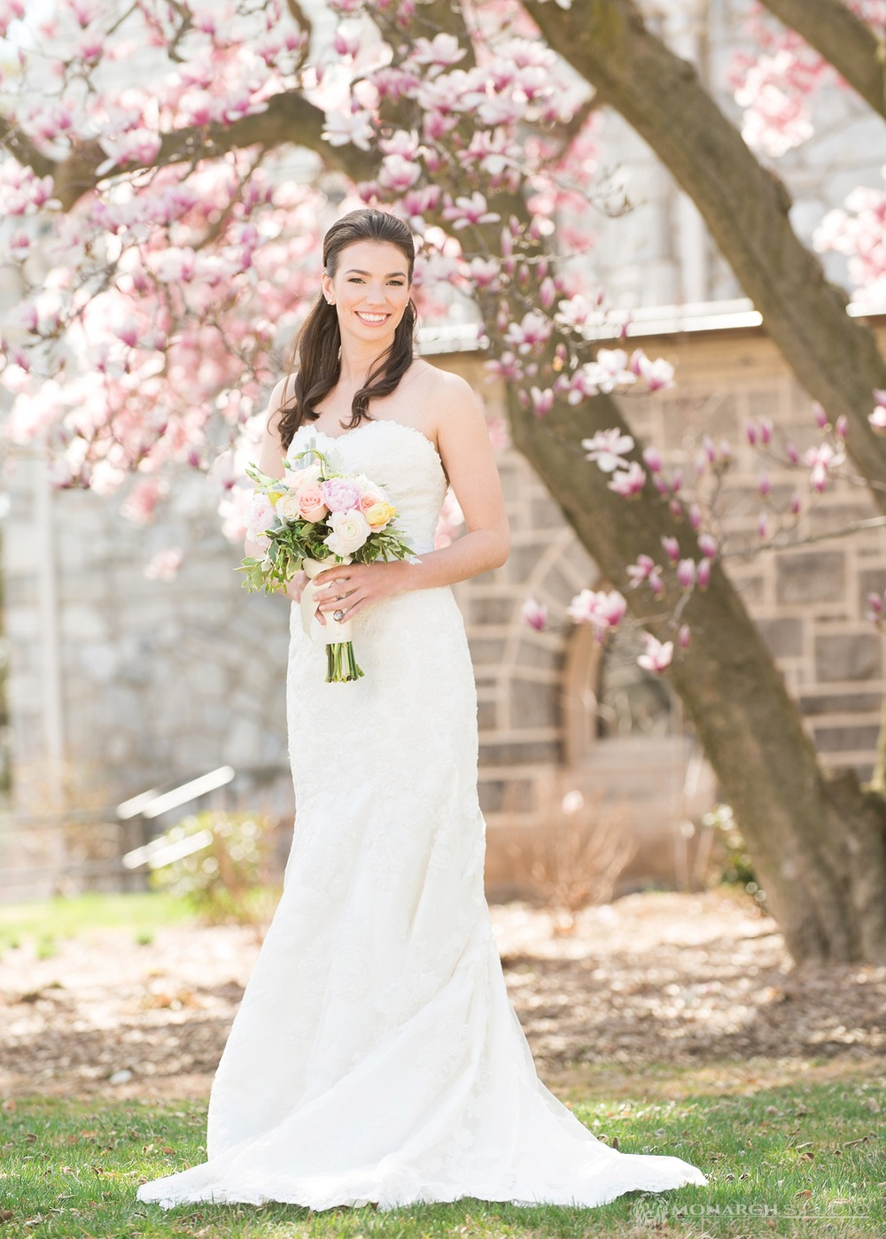 Bridal Portrait at St Thomas Church at Villanova University