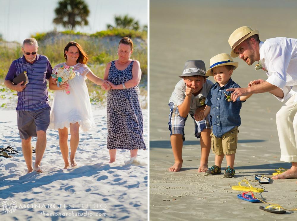 St. Augustine Beach Wedding Ceremony