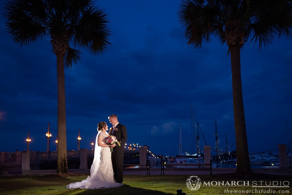 Night Wedding Photography St. Augustine Florida