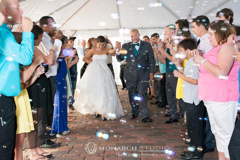 Bubble Exit Wedding St. Augustine St. Francis Barracks
