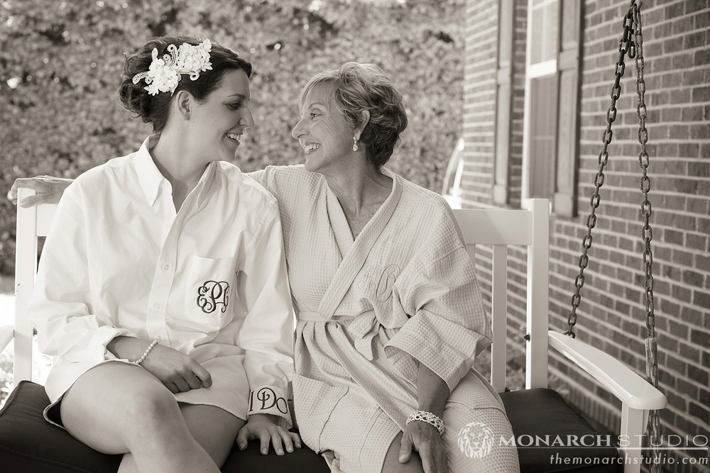 St Augustine Wedding Photography Mom and Bride
