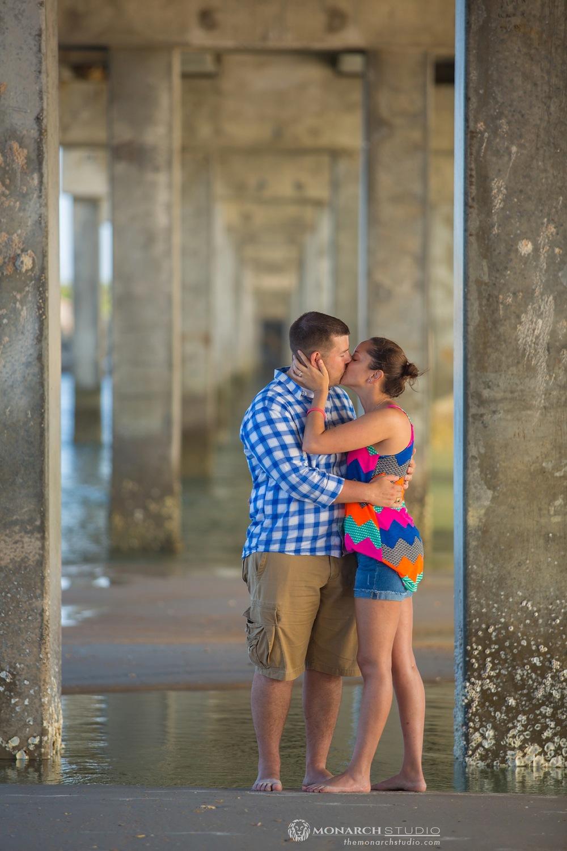 engagement photographer surprise proposal st augustine beach florida