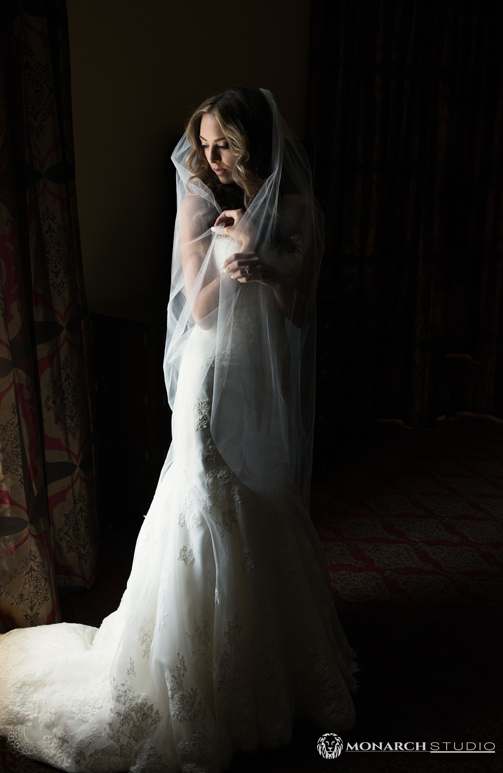 St. Augustine Wedding portrait of a bride at the Casa Monica Hotel.