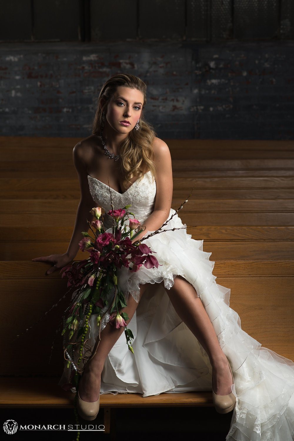 Monarch Studio's photographer D. Walters captures style wedding for bridal magazine.