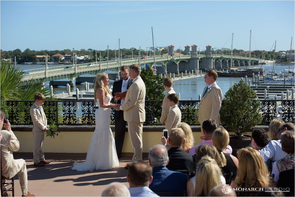 Tyson and Amy's vows on the rooftop of the Whiteroom Loft.