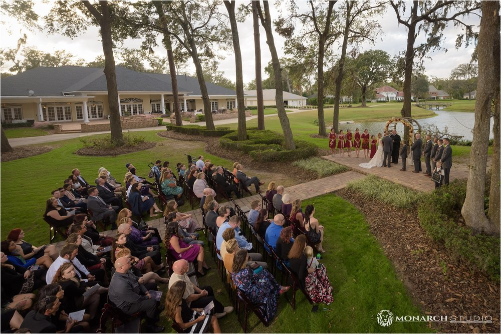 Josh and Annie's Wedding Ceremony view at Queen's Harbour