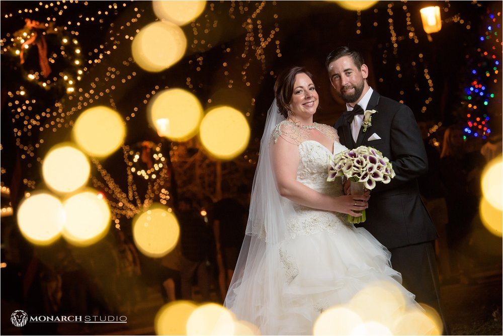 Dillon and Amanda had some wedding portraits, in Historic Saint Augustine's town square