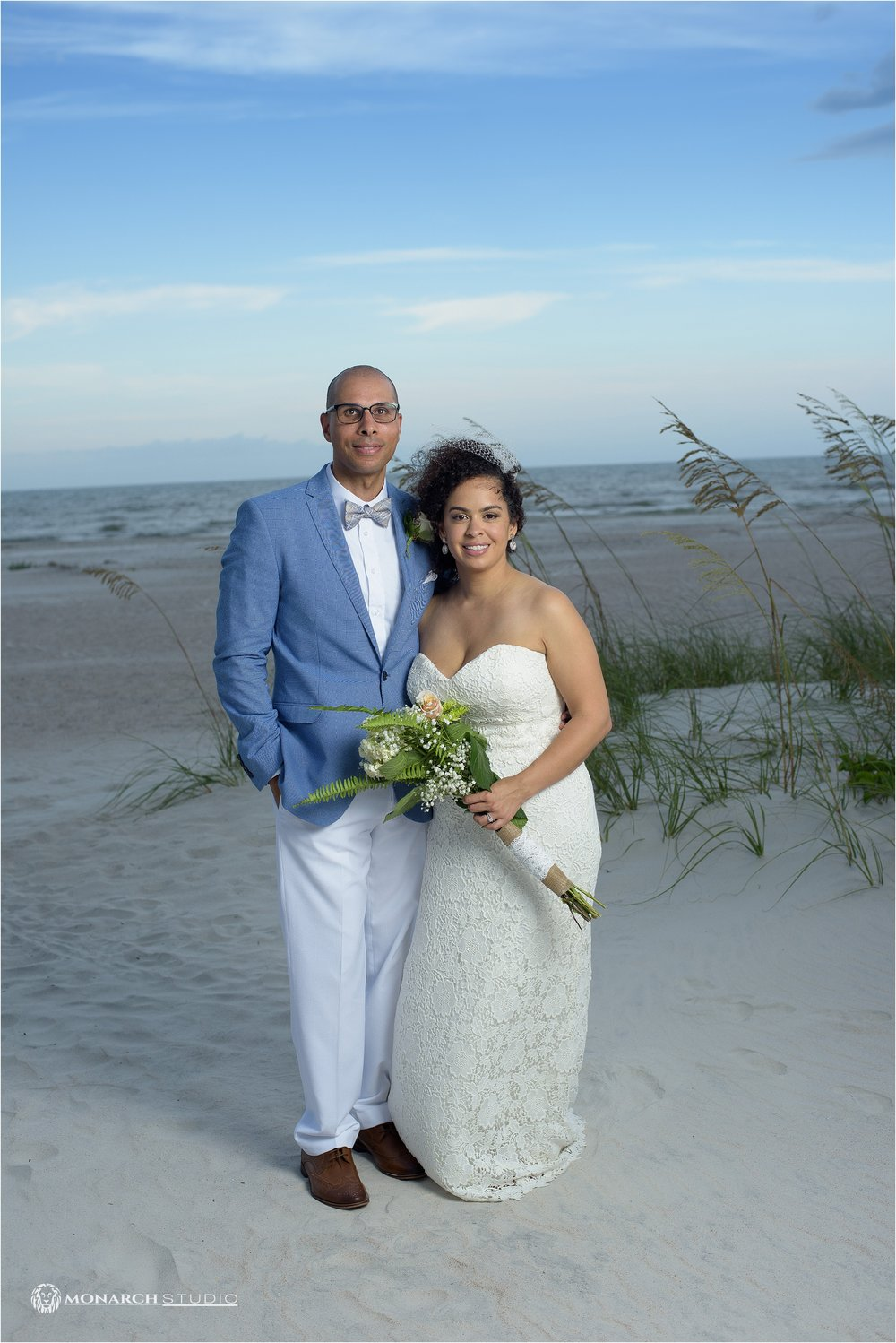Jason and Vanessa's beautiful Beach Wedding, just before the rain clouds roll in.