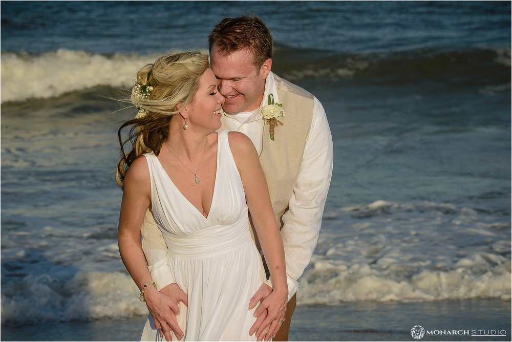 Beachfront Wedding portraits for Jason and Vanessa's