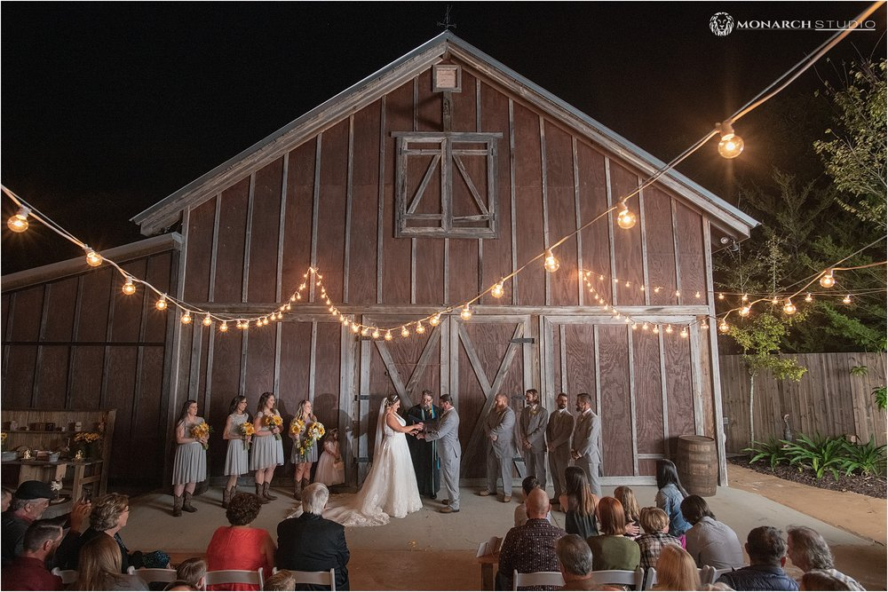 All the benefits of a barn wedding with the close proximity to downtown Saint Augustine.