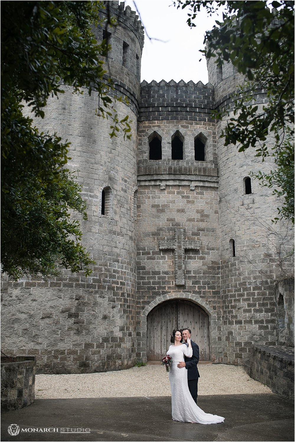Our Bride and Groom, infront of one of Saint Augustine's most iconic landmarks, the Castle Otttis